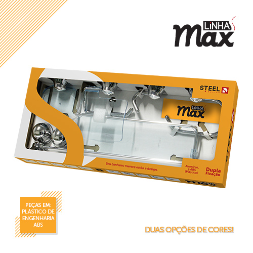 Max Collection – Bathroom accessories made of ABS and aluminum